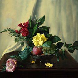 Пазл онлайн: Цветочная композиция