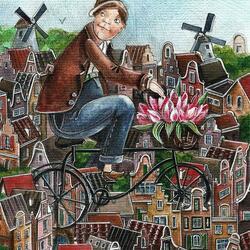 Пазл онлайн: Май в Амстердаме