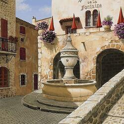 Пазл онлайн: Отель у фонтана в Венеции