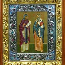 Пазл онлайн: Святые Кирилл и Мефодий