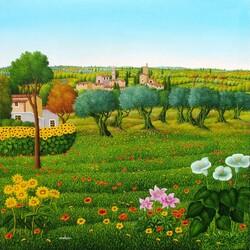 Пазл онлайн: Итальянские деревушки