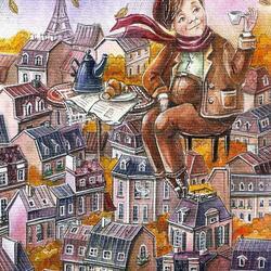 Пазл онлайн: Октябрь в Париже