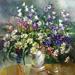 Пазл онлайн: Букет из любимых цветов