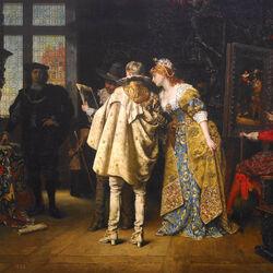 Пазл онлайн: В ателье Рембранда