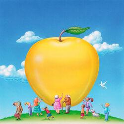 Пазл онлайн: Большое золотое яблоко