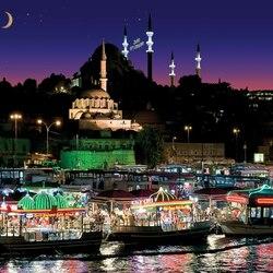 Пазл онлайн: Ночной Стамбул