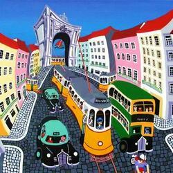 Пазл онлайн: По улочкам Лиссабона