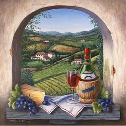 Пазл онлайн: Молодое красное вино