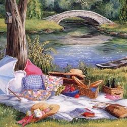 Пазл онлайн: Пикник у воды