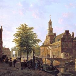 Пазл онлайн: Причал в Гааге