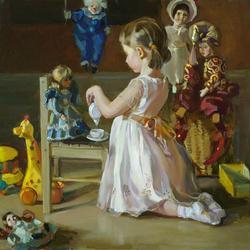 Пазл онлайн: Игра в куклы