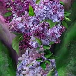Пазл онлайн: Букет в лиловых тонах