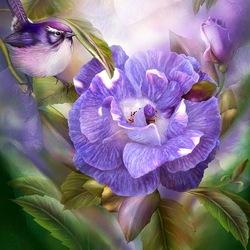 Пазл онлайн: Голубая роза