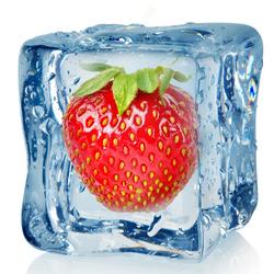 Пазл онлайн: Клубника во льду