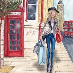 Пазл онлайн: Шоппинг в Лондоне