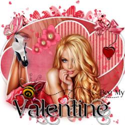Пазл онлайн: Пчелка - мой Святой Валентин