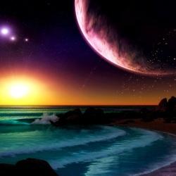 Пазл онлайн: Море, космос