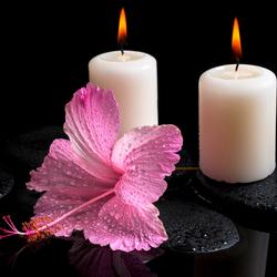Пазл онлайн: Две свечи