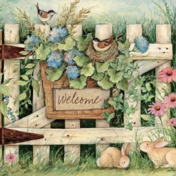 Пазл онлайн: Садовая калитка