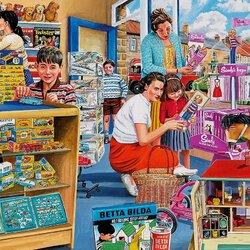 Пазл онлайн: В детском магазине