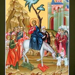 Пазл онлайн: Вход Господень в Иерусалим