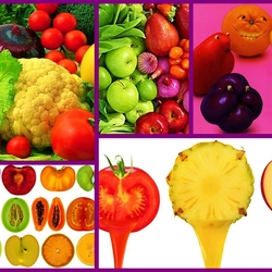 Пазл онлайн: Фрукты и овощи