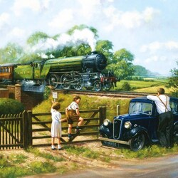 Пазл онлайн: Проходящий поезд