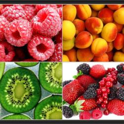 Пазл онлайн: Ягоды и фрукты