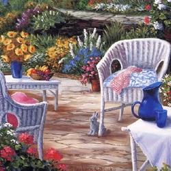 Пазл онлайн: Весна в саду
