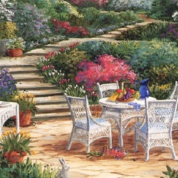 Пазл онлайн: Уютный уголок сада