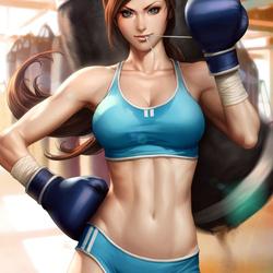 Пазл онлайн: Красивая боксерша