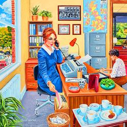 Пазл онлайн: Счастливый день в офисе