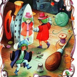 Пазл онлайн: Эльфы и башмачник. Сказки Братьев Гримм