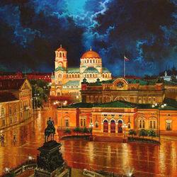 Пазл онлайн: Центр Софии и памятник Царю Освободителю