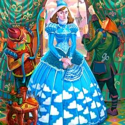 Пазл онлайн: Платье цвета небес.Ослиная шкура
