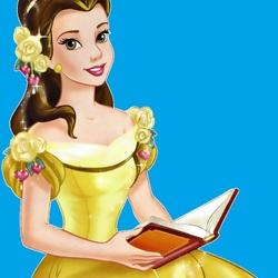 Пазл онлайн: Бэлль с книгой