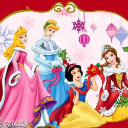 Пазл онлайн: Рождество для принцесс