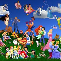 Пазл онлайн: Персонажи из мультфильмов