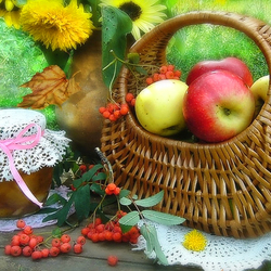 Пазл онлайн: Яблоки для варенья