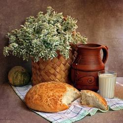 Пазл онлайн: Деревенский завтрак