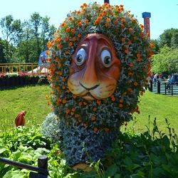 Пазл онлайн: Цветочный лев