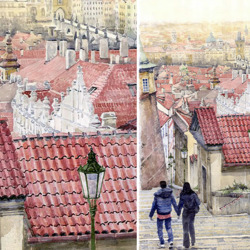 Пазл онлайн: Пражские крыши