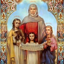 Пазл онлайн: Вера, Надежда, Любовь и мать их Софья