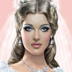 Пазл онлайн: Портрет невесты