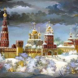 Пазл онлайн: Новодевичий монастырь
