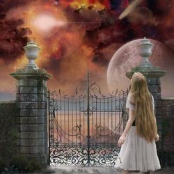 Пазл онлайн: Её тайный сад