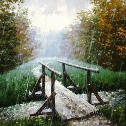 Пазл онлайн: Грибной дождь