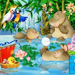 Пазл онлайн: Приключение синего попугая