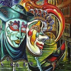 Пазл онлайн: Венеция глазами маски