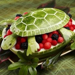 Пазл онлайн: Кулинарная черепашка